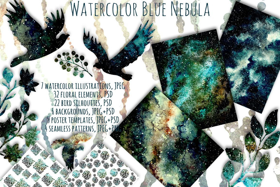 Blue Nebula Set example image