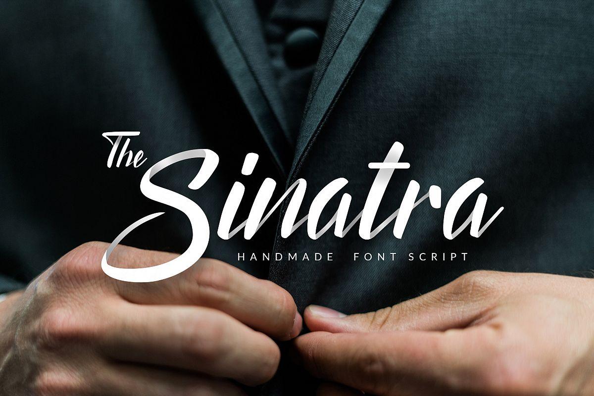 The Sinatra - Handmade Font Script example image
