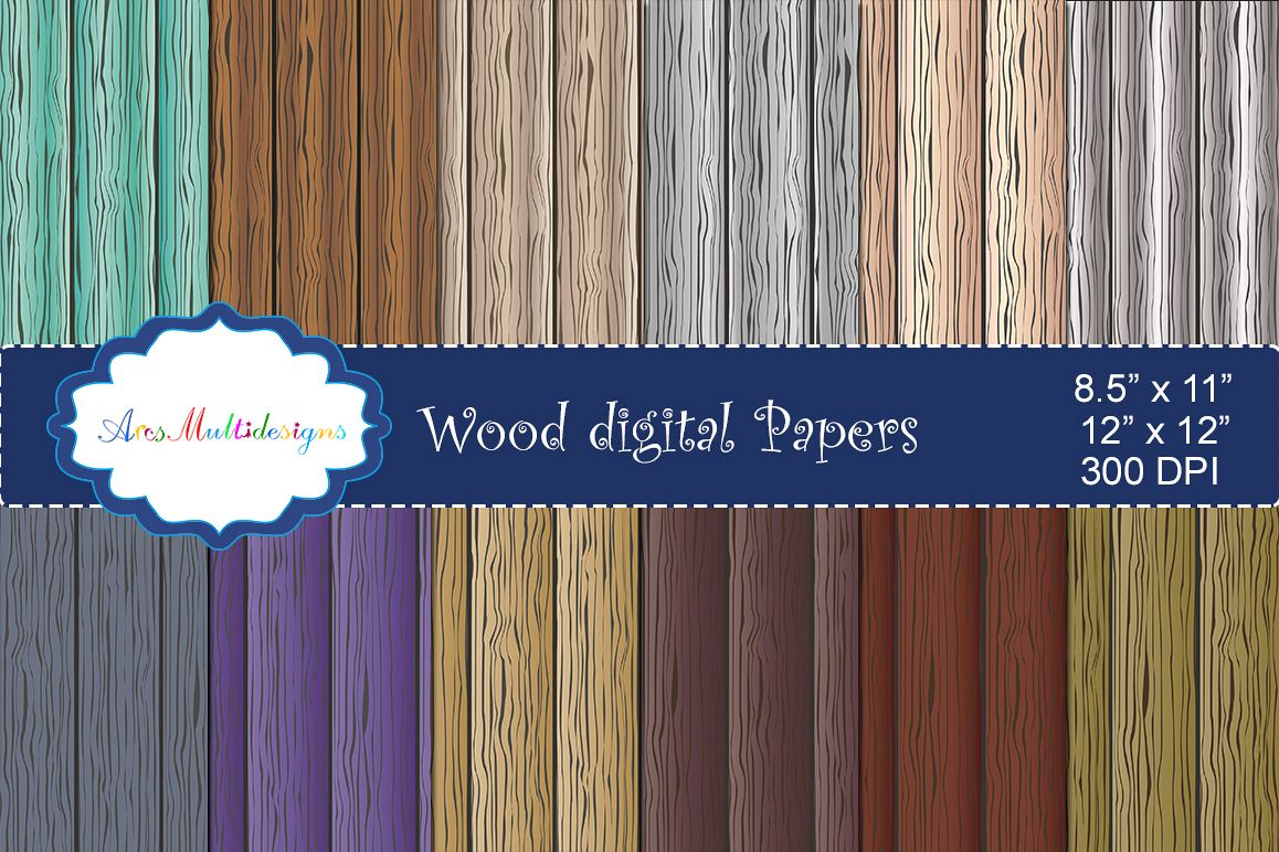 Wood digital paper / wood digital pattern / wood digital background / wood texture / wood / high quality 12 x 12 example image