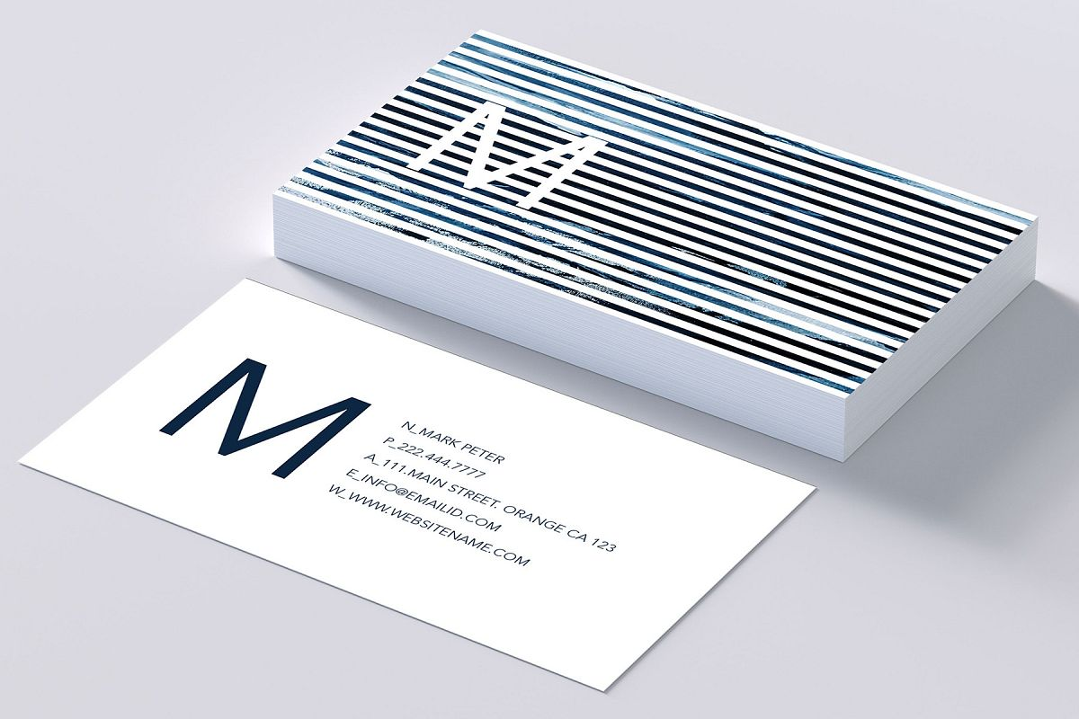 Classy line art business card by creati design bundles classy line art business card example image colourmoves