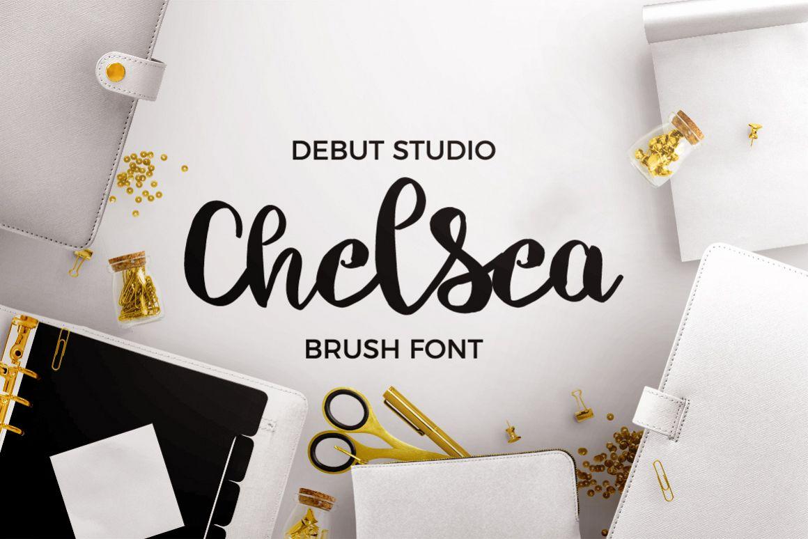 Chelsea Font Duo - Brush & Script example image