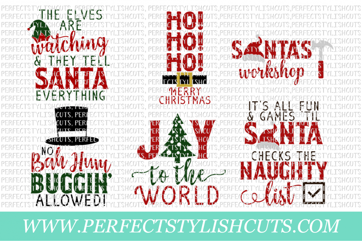 Christmas Wood Sign Designs Collection - SVG, EPS, DXF, PNG Files For Cutting Machines example image 3