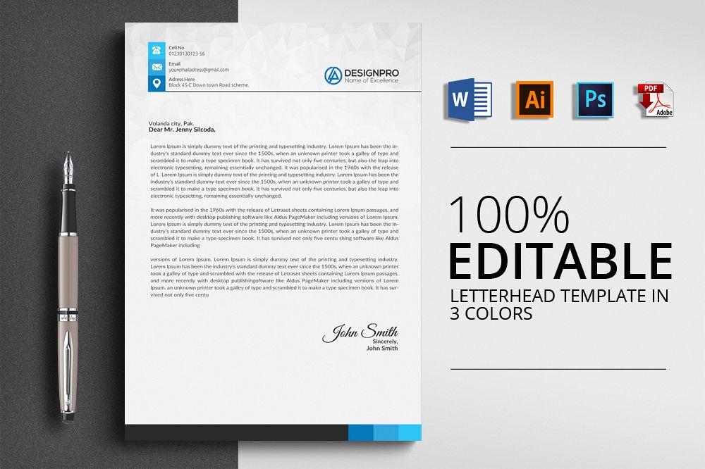 Professional letterhead by designhub719 design bundles follow designer professional letterhead example image spiritdancerdesigns Images