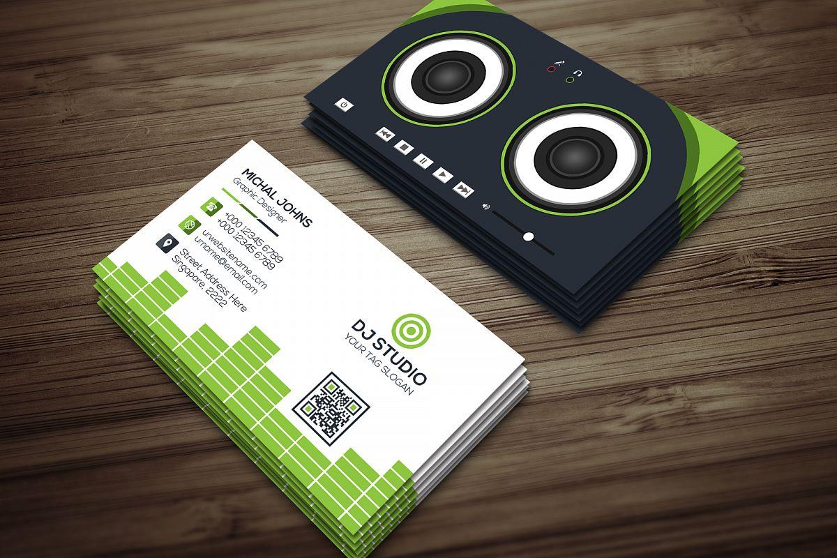 DJ Studio Business Card by J-A-R | Design Bundles