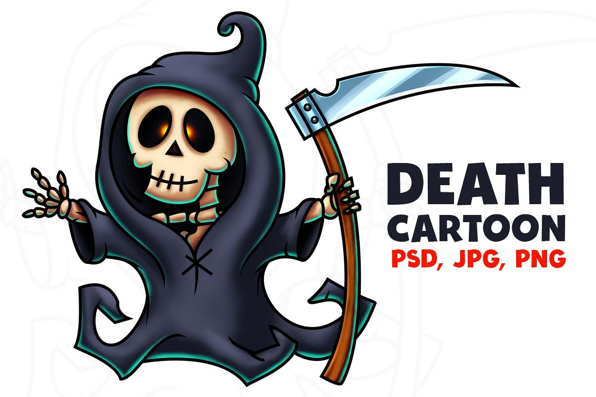 Death Cartoon Character - Digital Painting example image