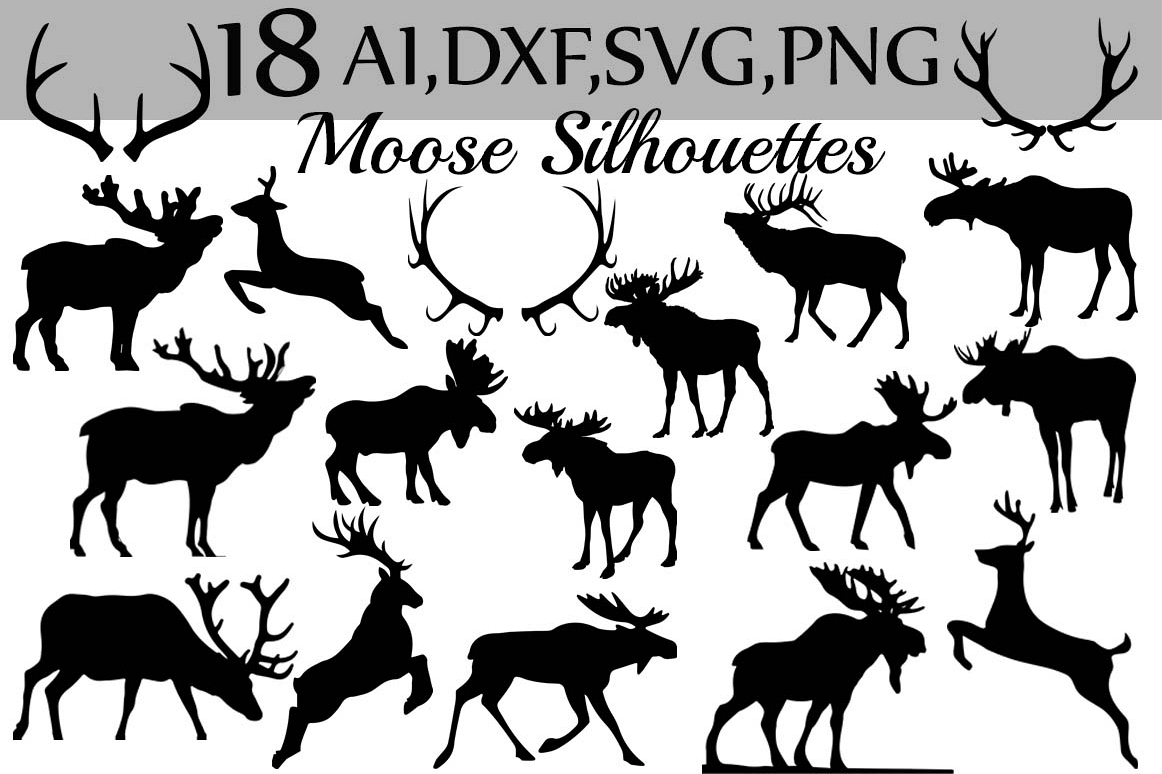 SVG Moose clipart example image