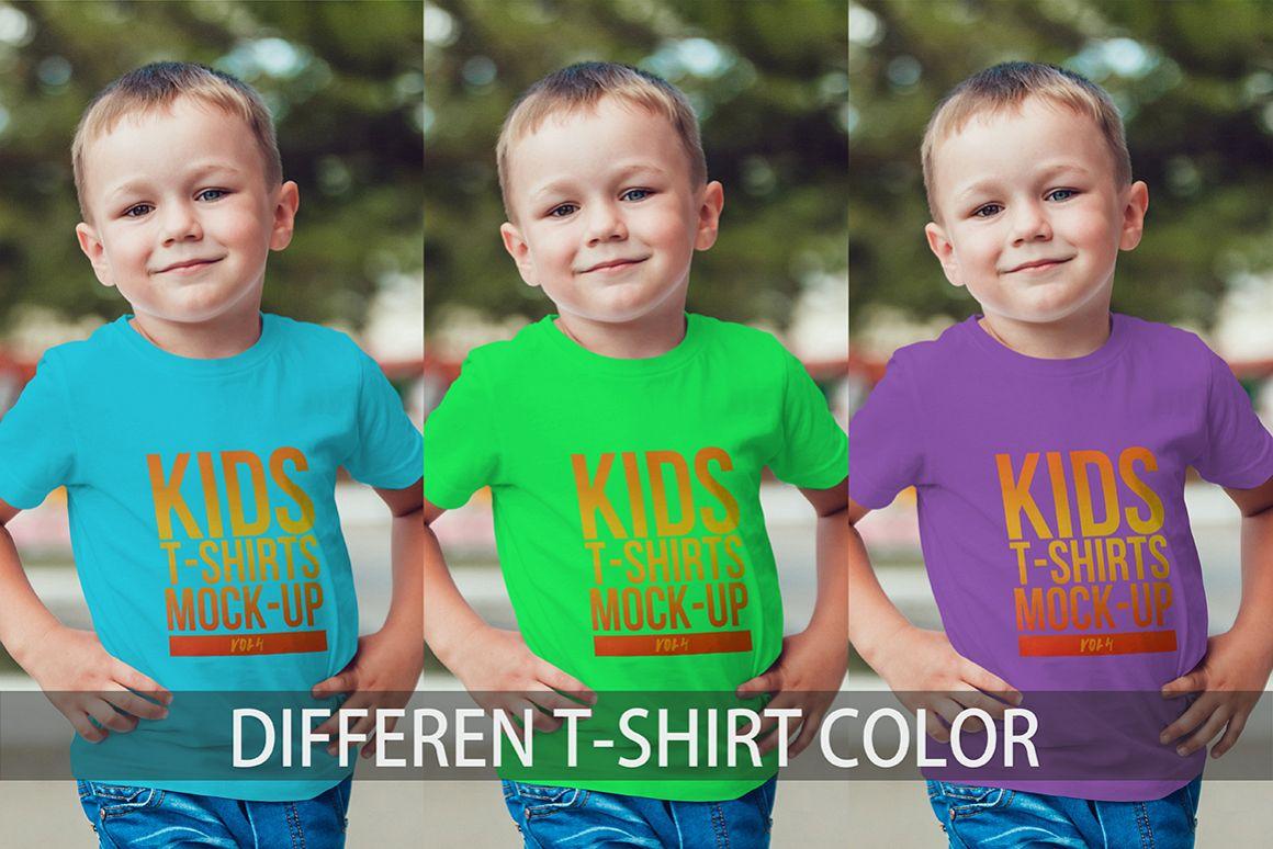 Kids T-Shirt Mock-Up Vol. 4 example image 8