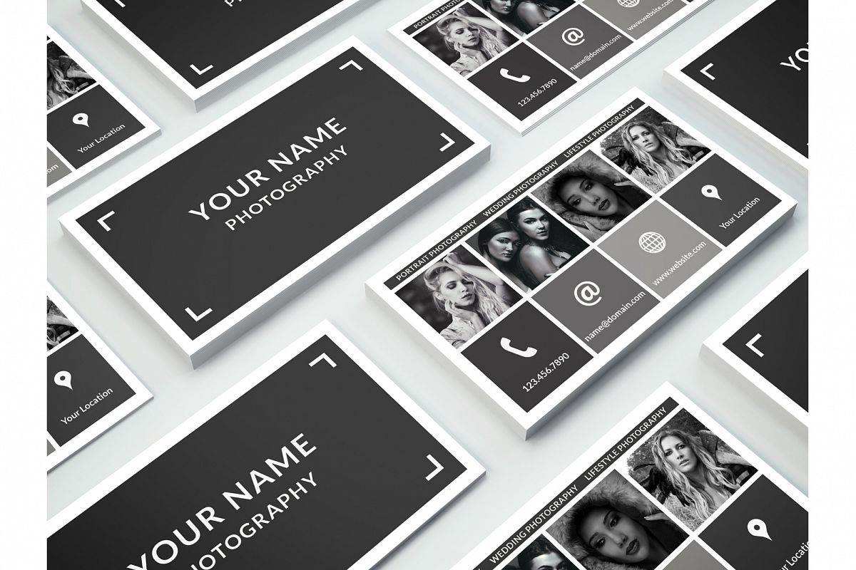 Business Card Template for Photoshop example image