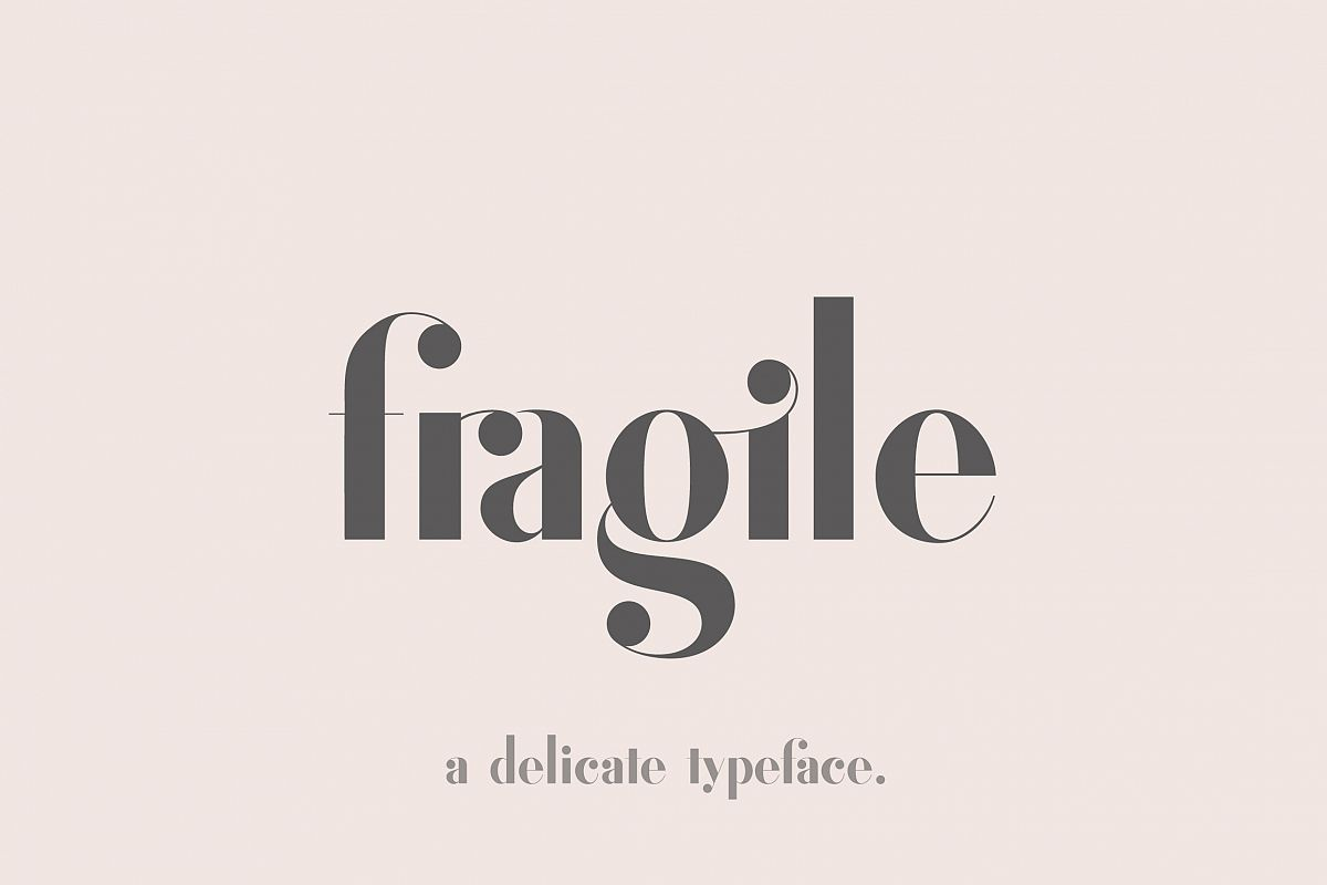 Fragile - A Delicate Typeface example image