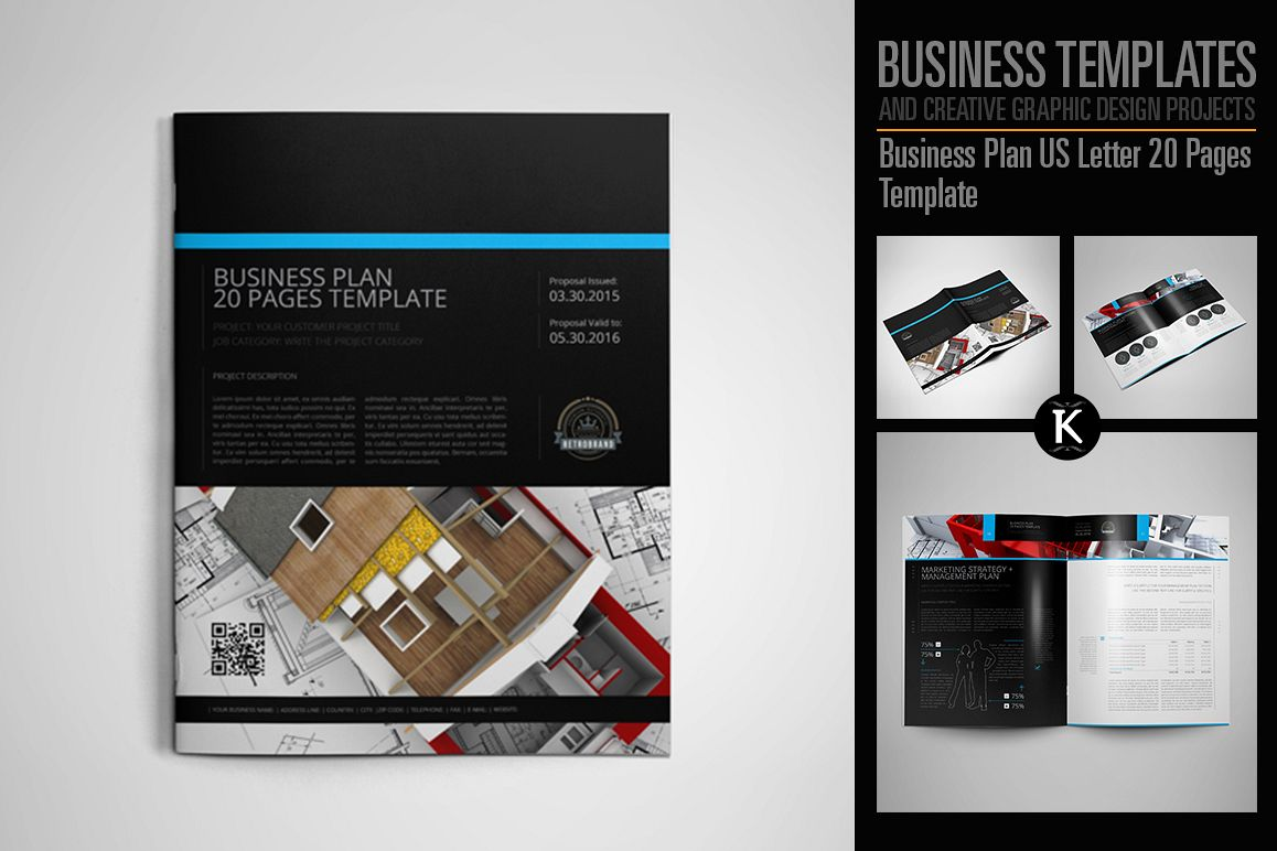 Business Plan US Letter 20 Pages Template example image