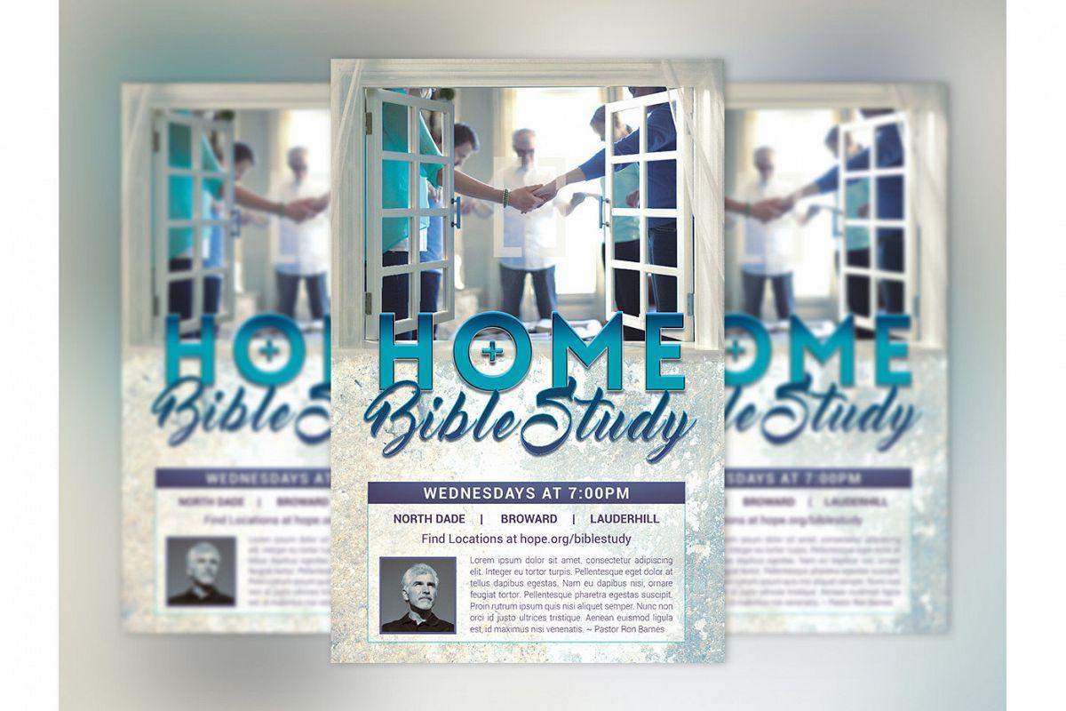 Bible Study Flyer Poster Photoshop Temp | Design Bundles