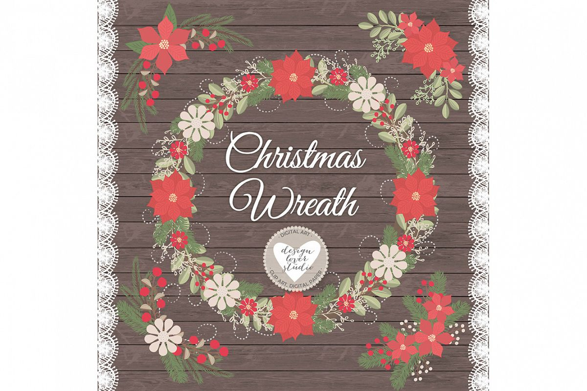 Vector Rustic christmas clipart example image