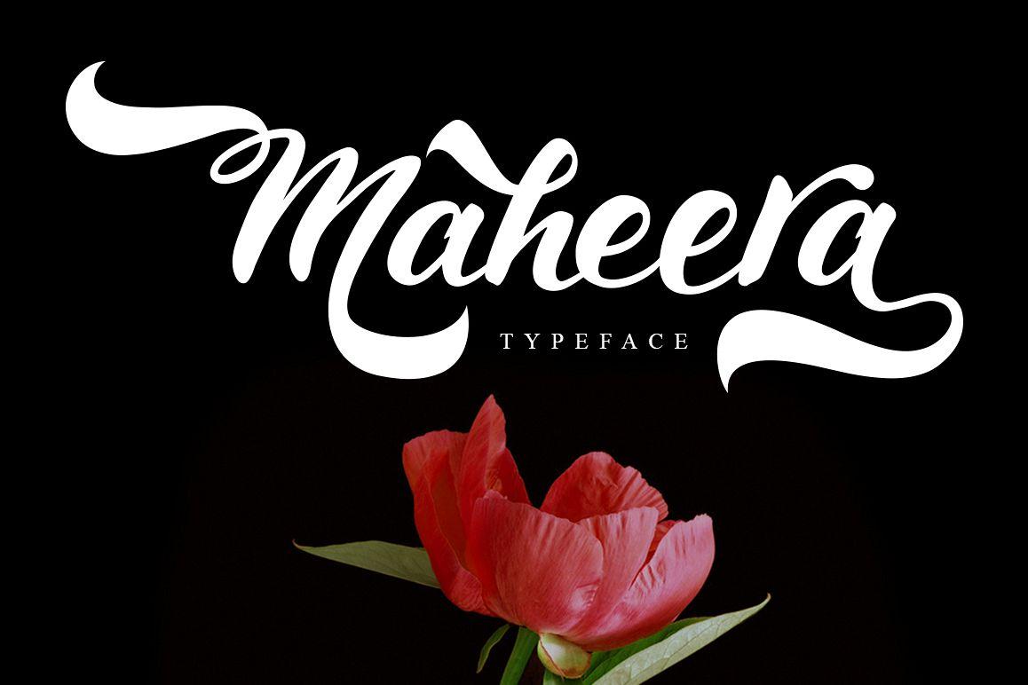 Maheera Font example image