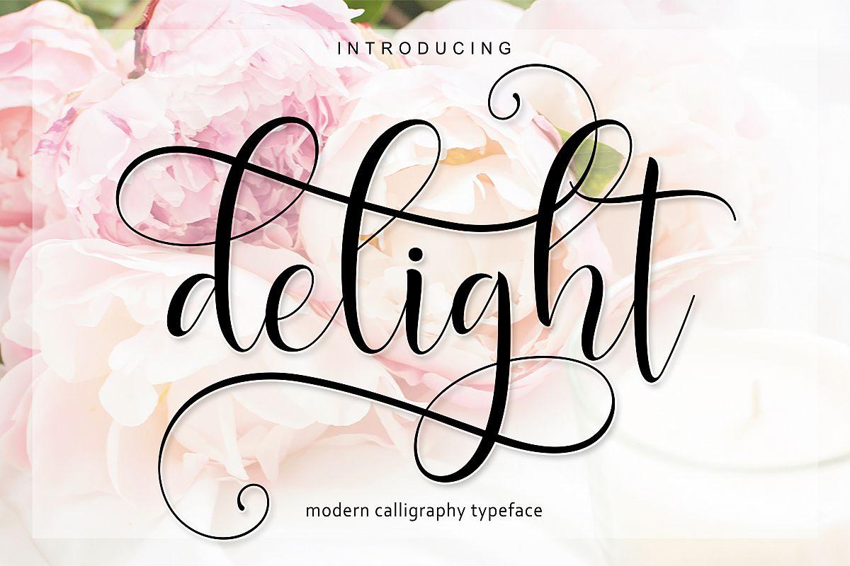 Delight Script | 4 Font example image