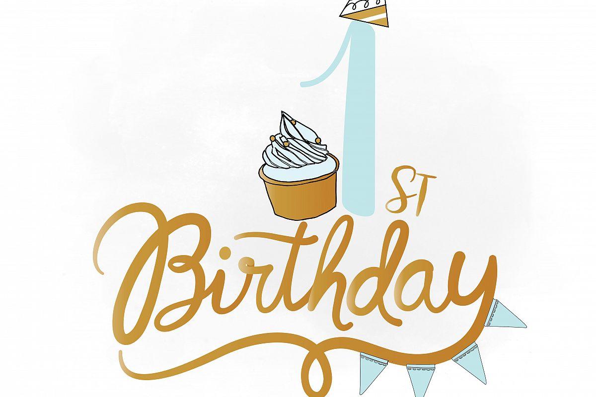 1st birthday svg clipart baby boy birt design bundles rh designbundles net happy 1st birthday clipart 1st birthday clipart images