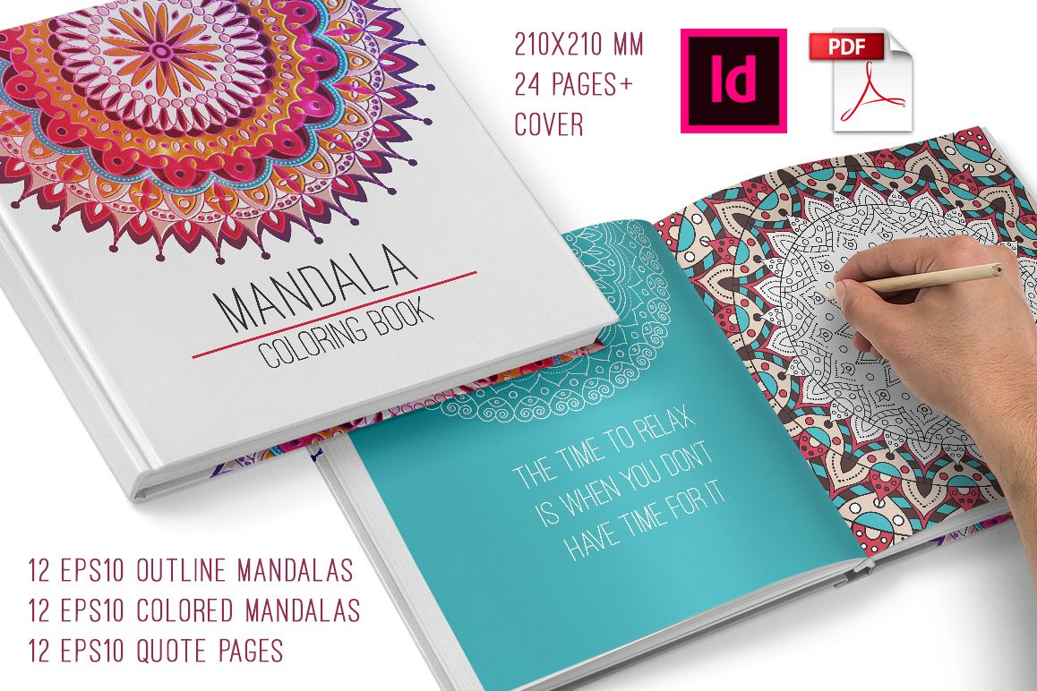 Mandala Coloring Book For Adults Example Image