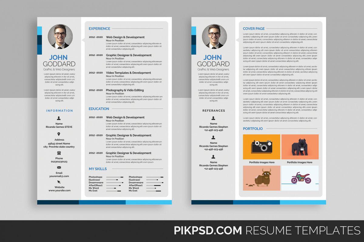 stylish resume template example image