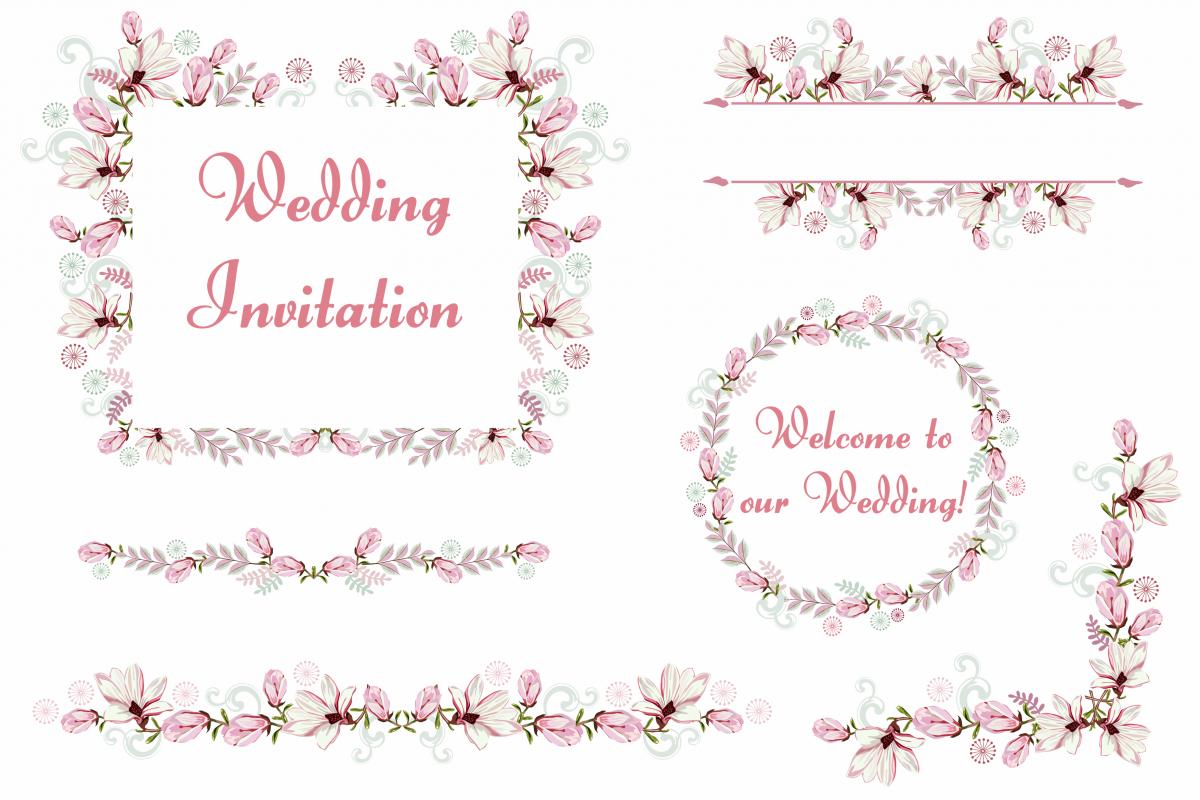 Bundle Wedding Party Decorations Clipart Vector SVG PNG Vr