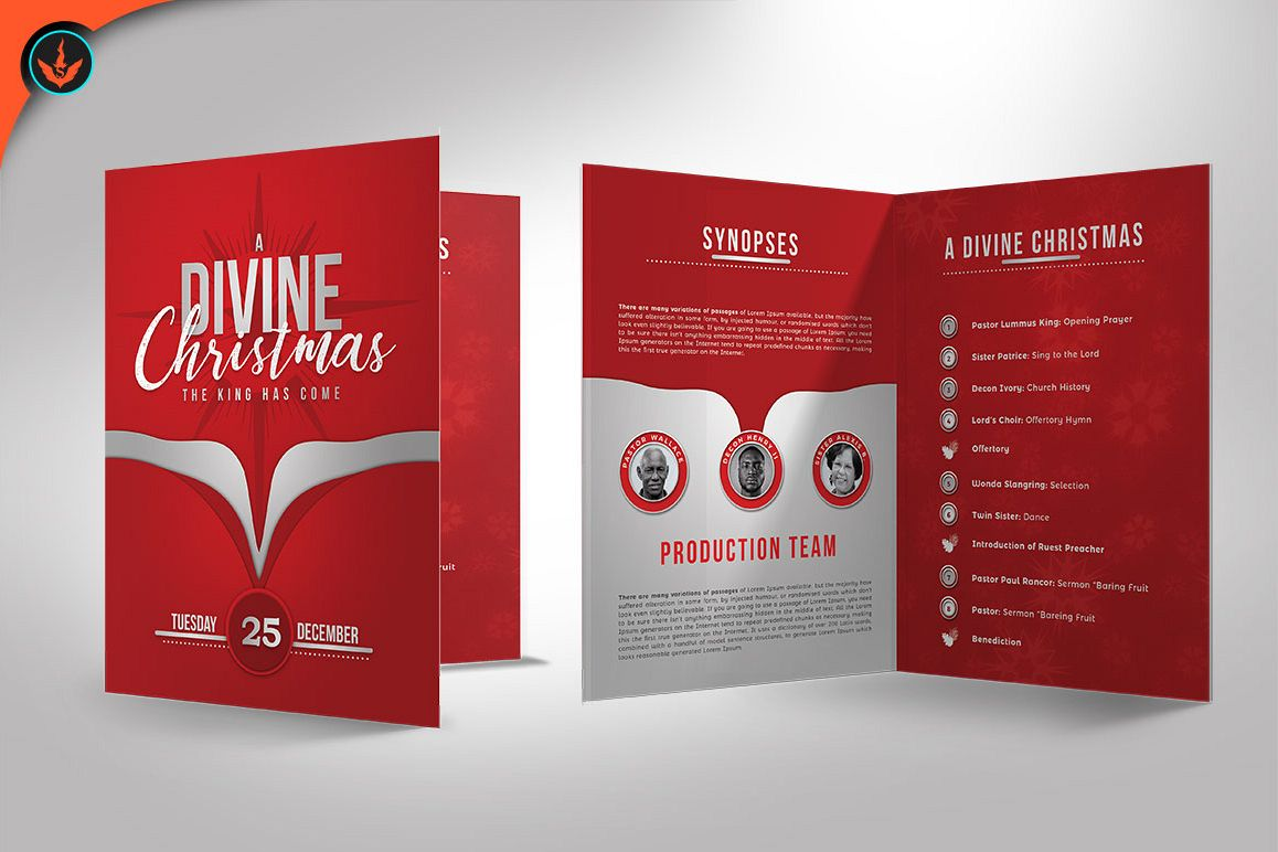 church christmas program template