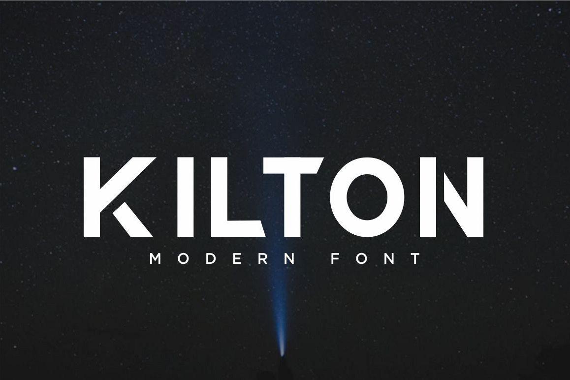 KILTON - MODERN SANS SERIF example image