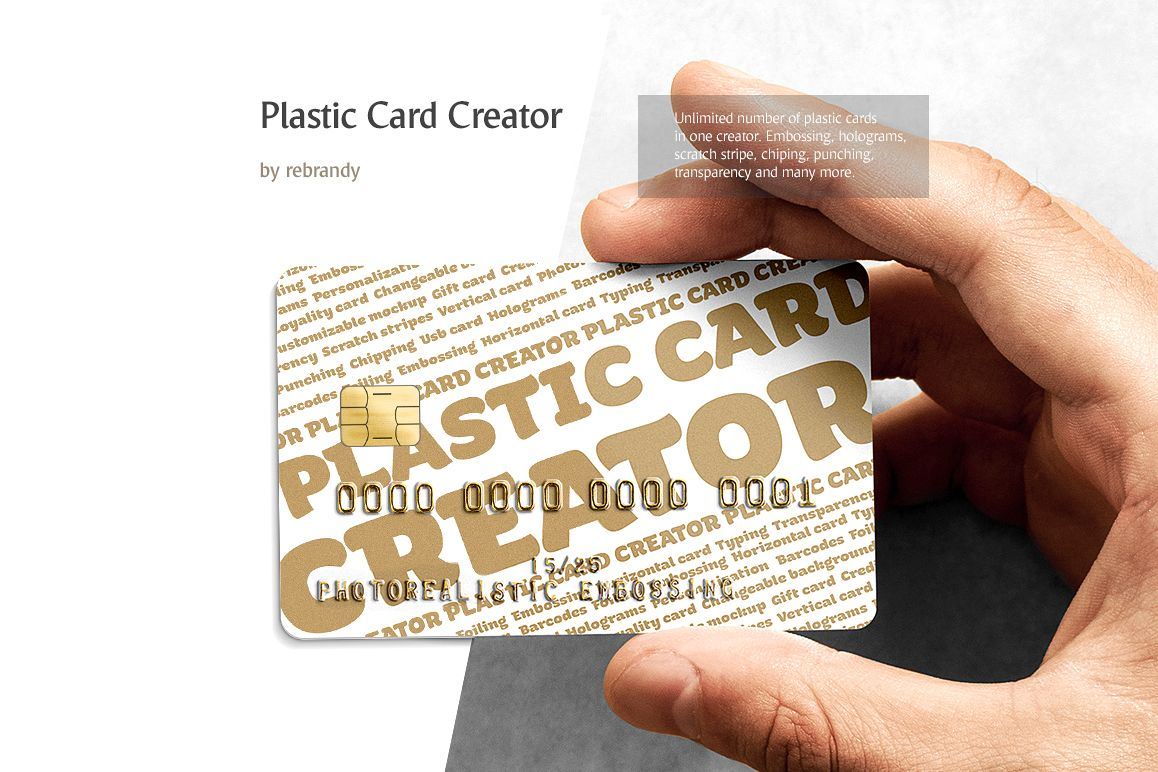 Plastic Card CREATOR (Credit Card Mocku | Design Bundles