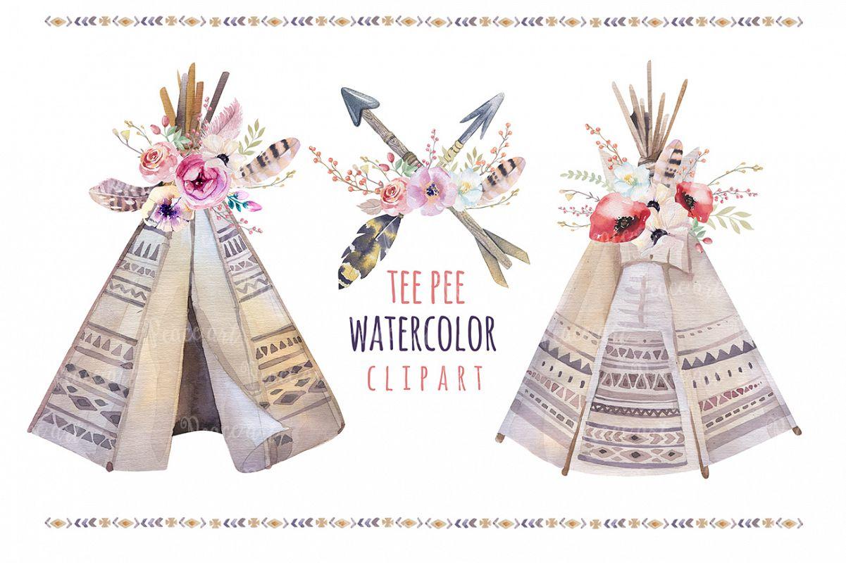 Tribe & Flower boho bundle example image 5