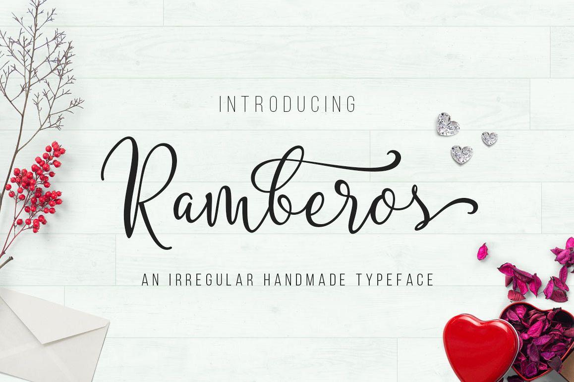 Ramberos Typeface example image