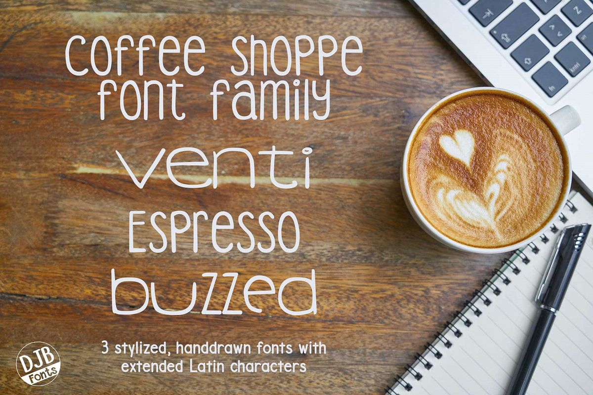 DJB Coffee Shoppe Font Bundle example image