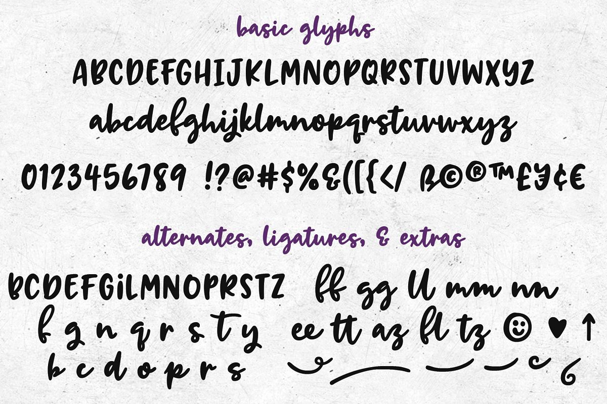 Breaking Bread: a chunky script font! example image 2