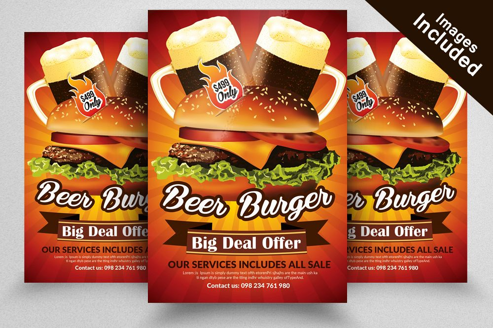 restaurant flyer template new example image