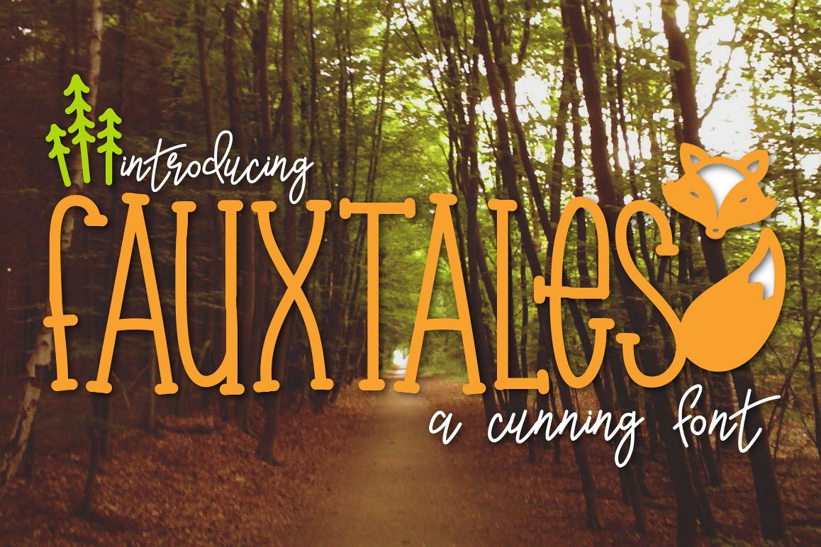 Fauxtales a Cunning Font example image