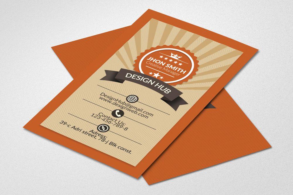 Retro Vintage Business Card by Designh | Design Bundles