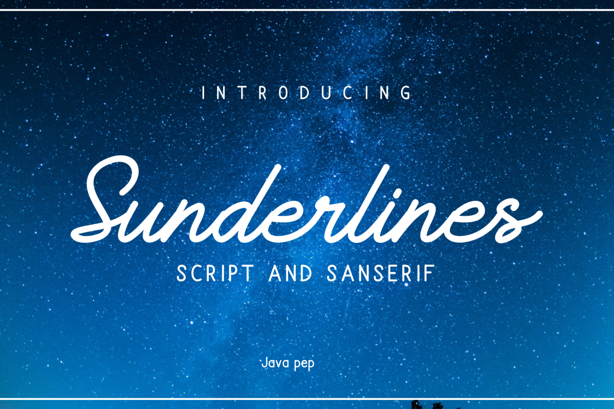 Sunderlines - Script and Sanserif example image