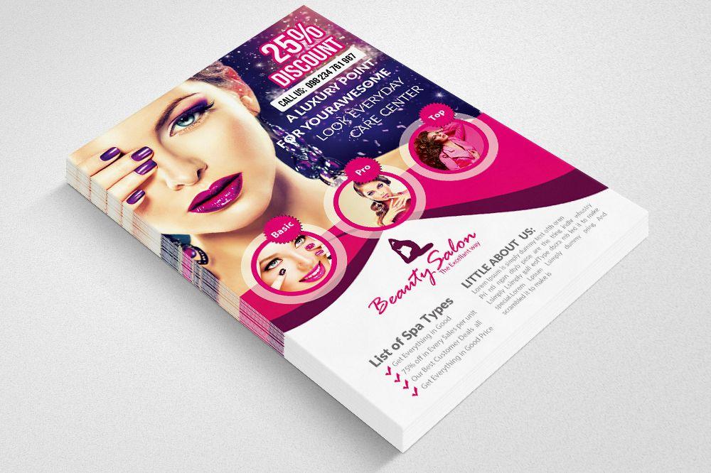Beauty Salon Flyer Template 02 By Desig Design Bundles