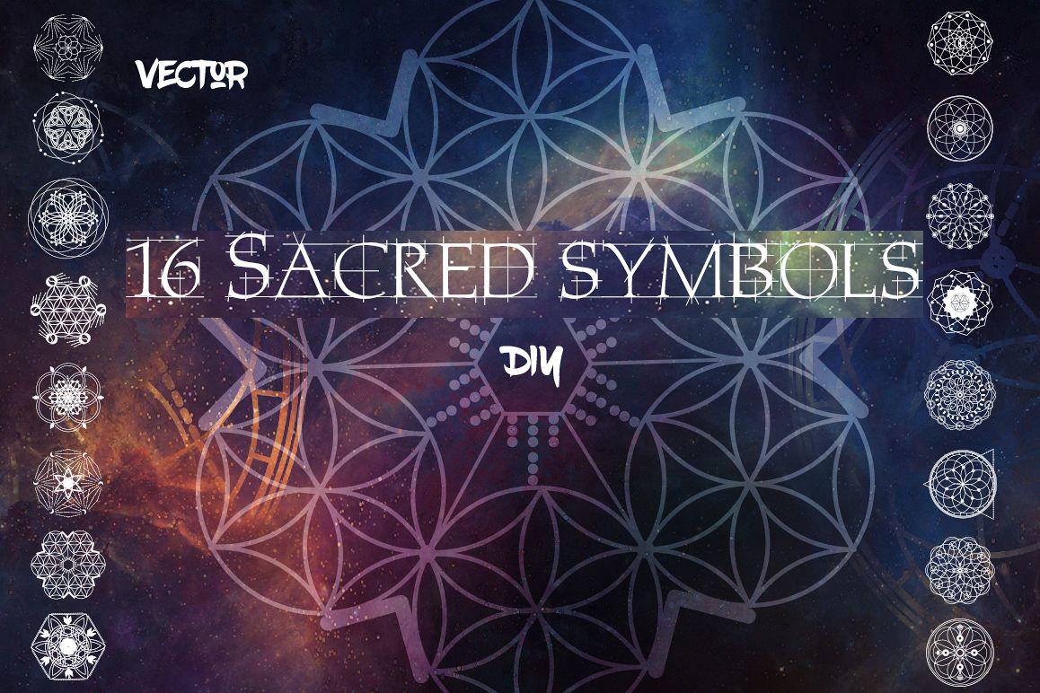 16 Sacred symbols  example image