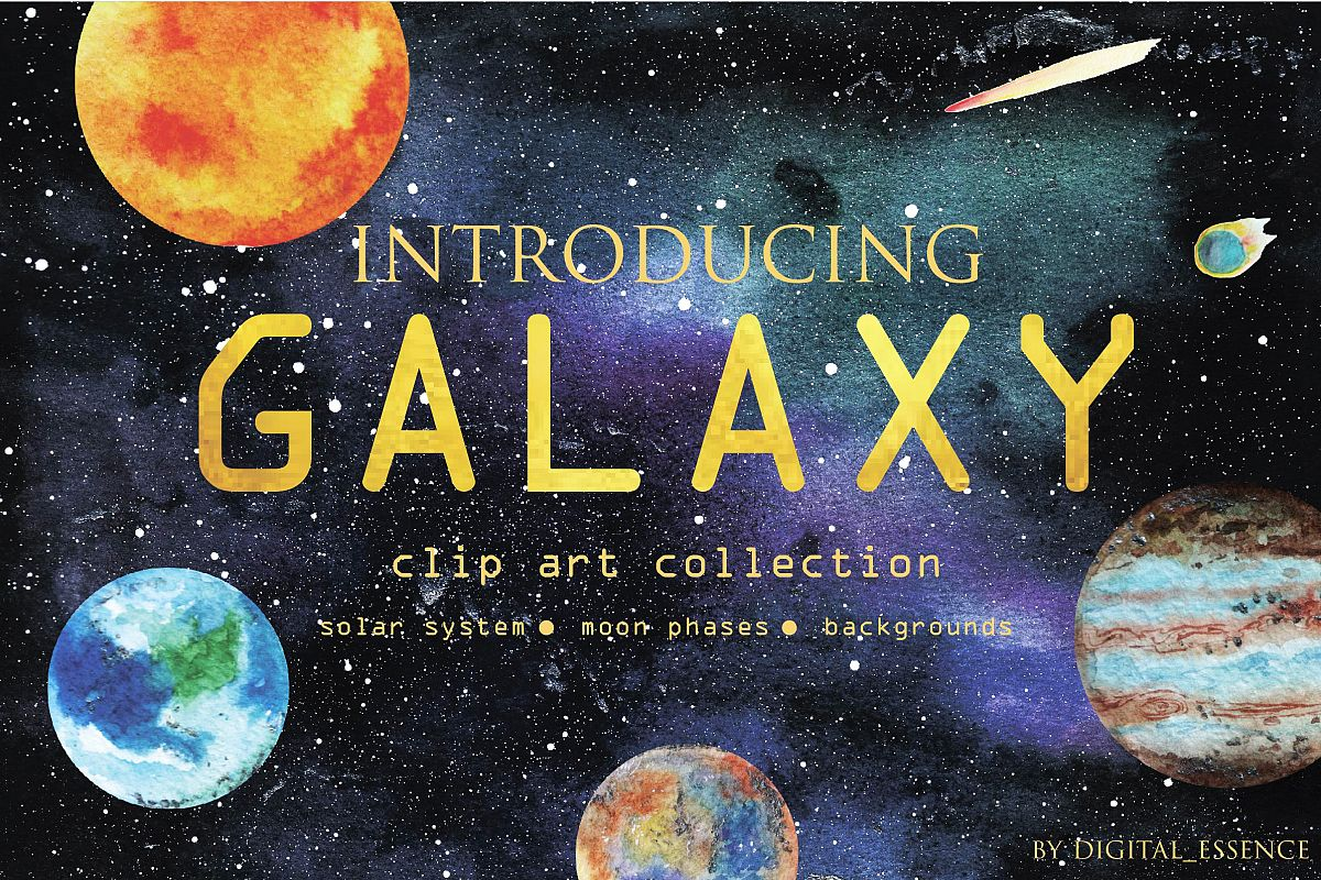 Galaxy clip art collection example image