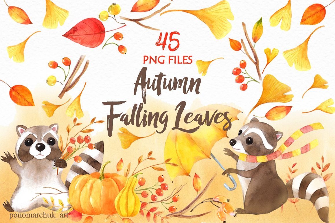 Autumn falling leaves example image