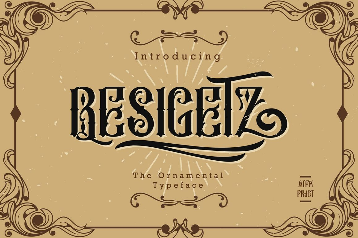 Besigetz Typeface example image