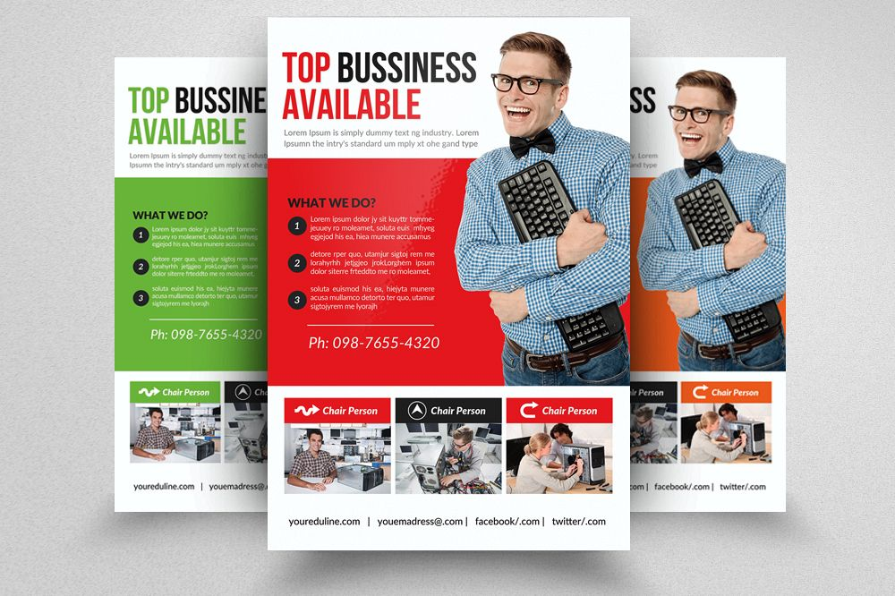Computer Repair Flyer Template By Desig  Design Bundles