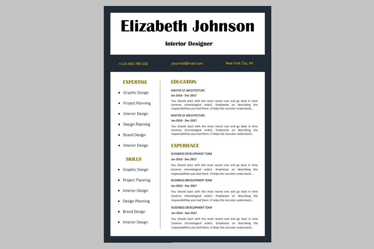 Creative Resume Template  Cv By Artis  Design Bundles