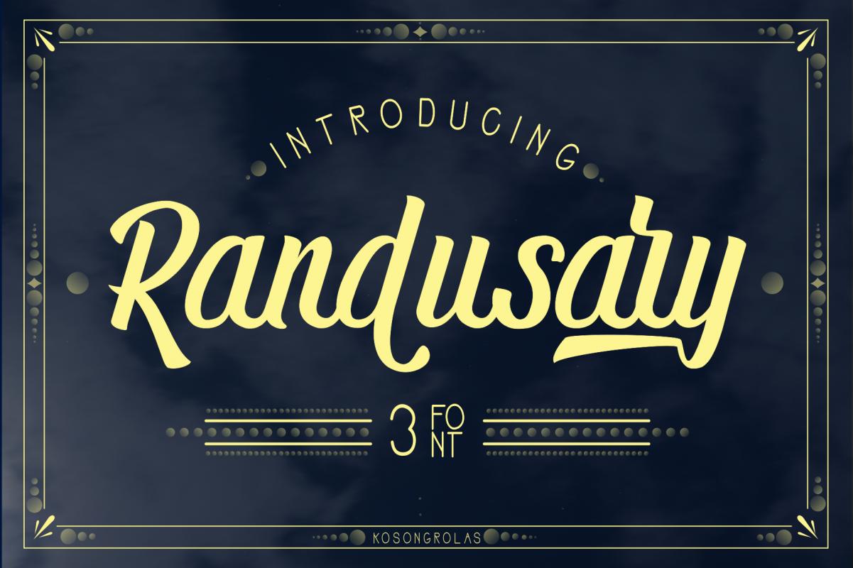 Randusary 3 Font example image