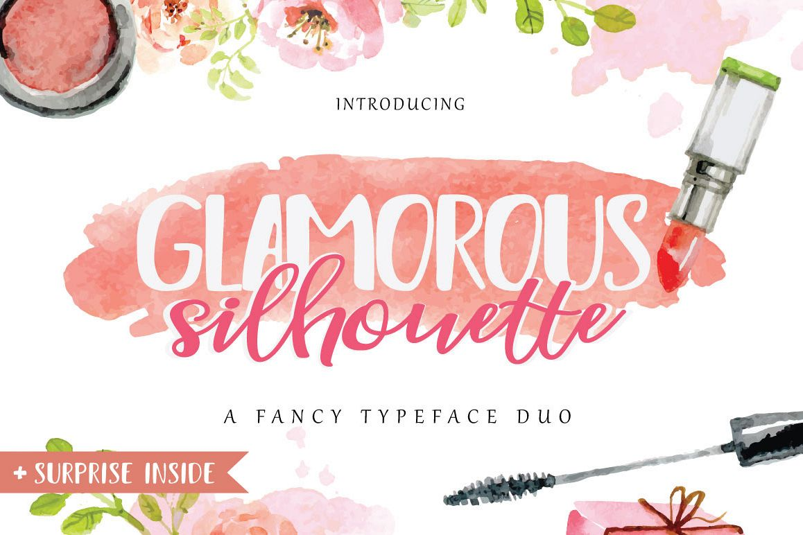 Glamorous Silhouette Font example image