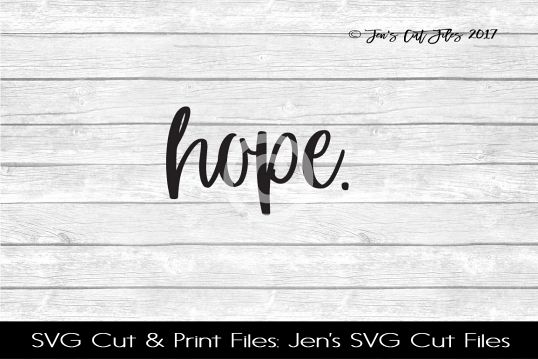 Hope SVG Cut File example image