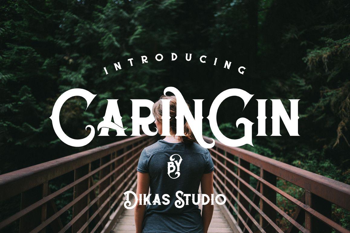 Caringin Typeface example image