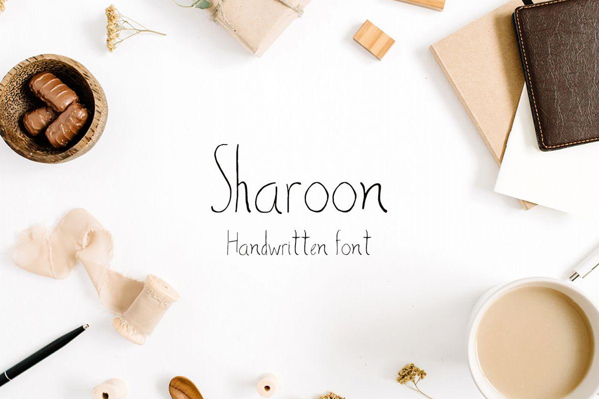 Sharoon Handwritten Sans Serif Font example image