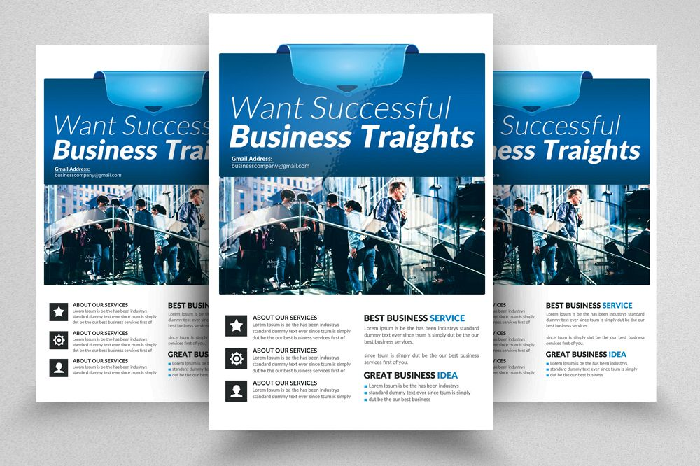 financial consulting flyer templates example image