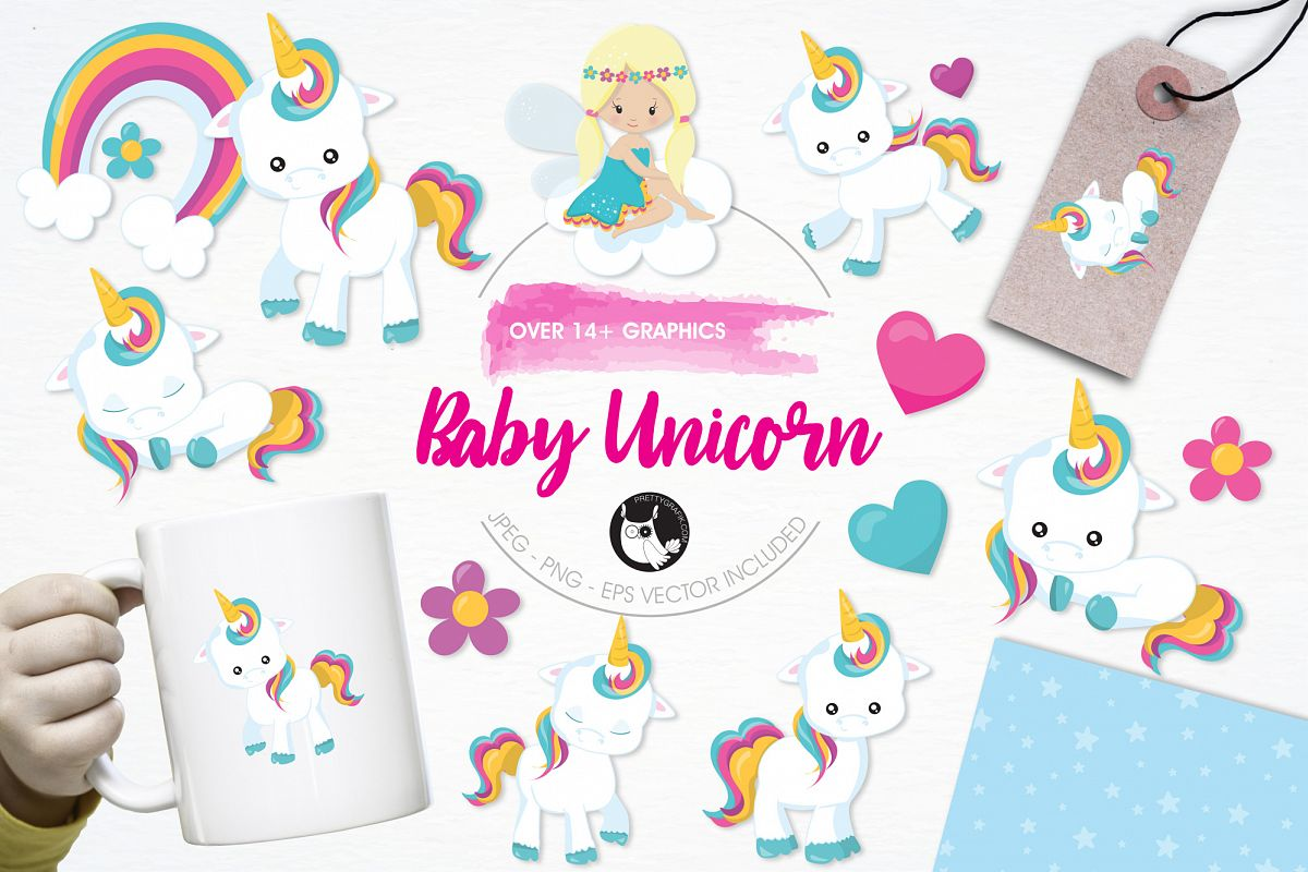 Baby Unicorn graphics and illustrations example image