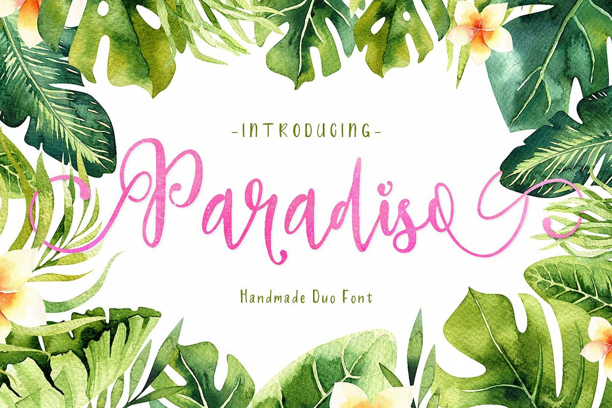 Paradiso - Fonts Duo example image
