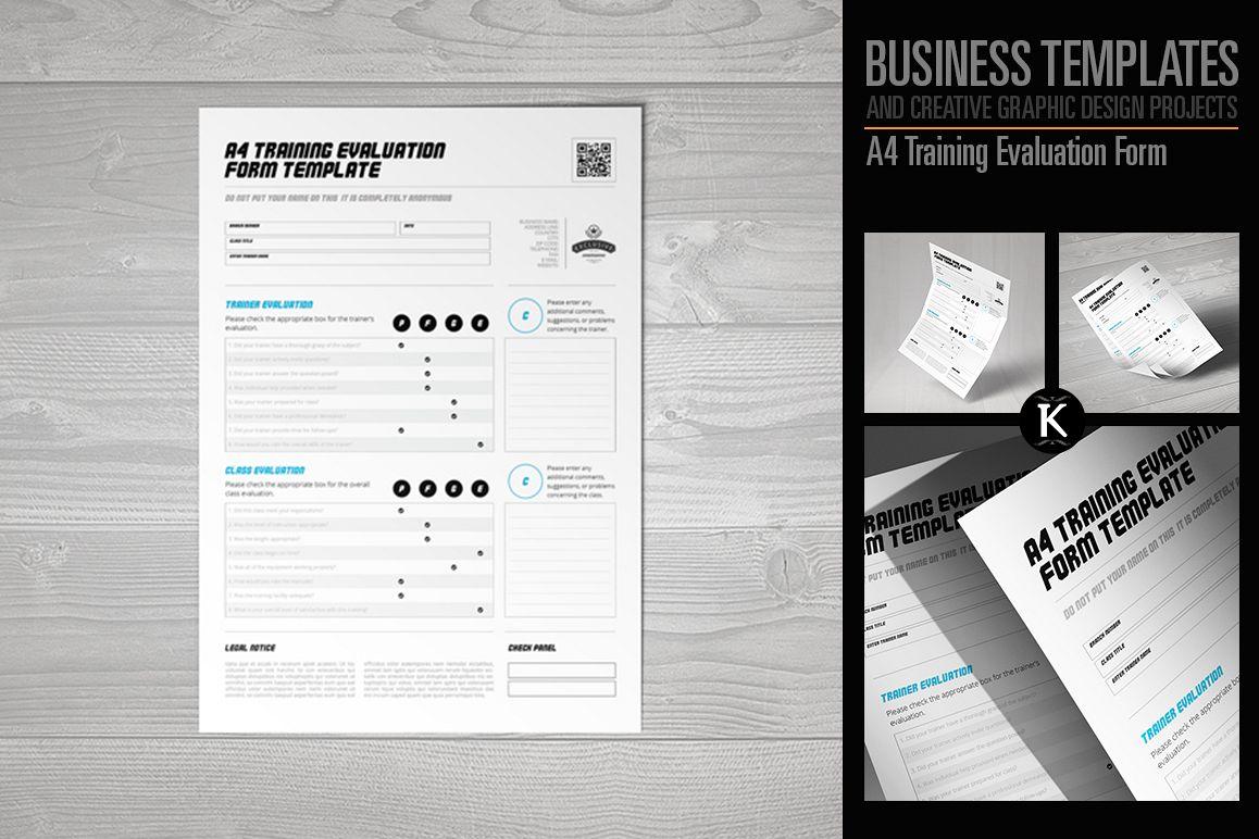 A4 Training Evaluation Form by Keboto | Design Bundles