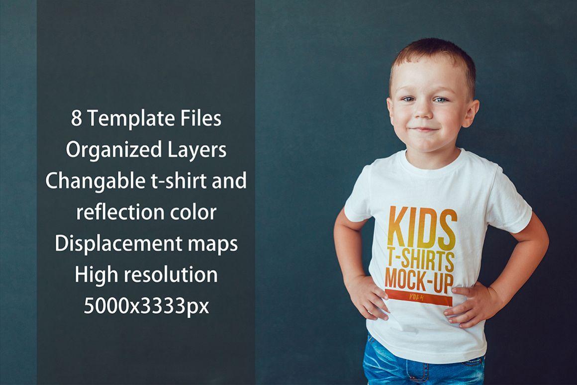 Kids T-Shirt Mock-Up Vol. 4 example image 4